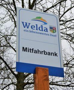 Mitfahrbank Welda