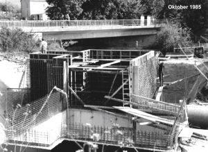 Bau des Pumpwerks 1985
