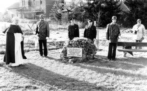 Einweihung des Gedenksteines für die Kriegsgefangenen