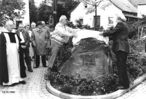 """Enthüllung des Gedenksteines """"Deutsche Einheit"""""""