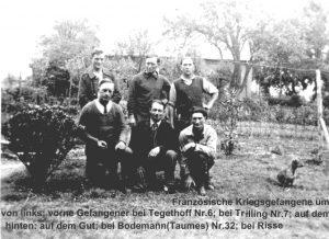 Französische Kriegsgefangene um 1940