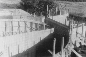 Bau des Hochbehälters 1962