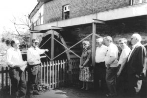 Inbetriebnahme des neuen Mühlenrades
