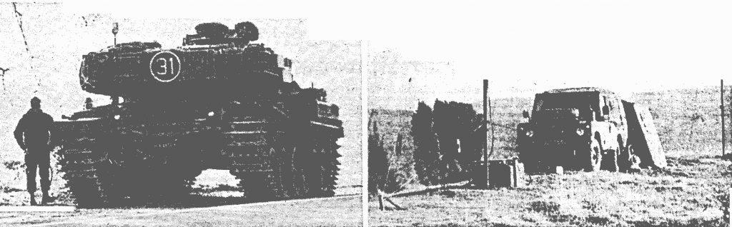Manöver in Welda - Panzer auf dem Iberg
