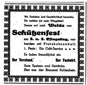Schützenfest Marke 1929