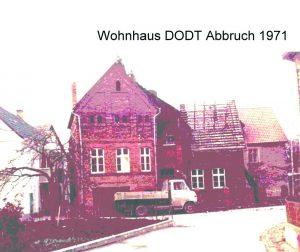 Wohnhaus DODT Abbruch 1971