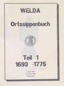 Bruno Hake - Ortssippenbuch Welda - Teil 1