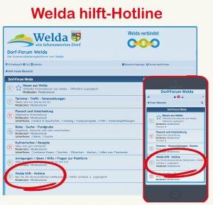 Welda hilft - Hotline